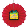 Birthday Gift Paper Fan 12in
