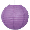 Pretty Purple Solid Round Lantern 10in