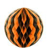 Black & Orange Solid 8in Honeycomb Ball
