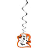 Scaredy Bat Ghost Large Hanging Swirl Decorations, 32in, 3ct