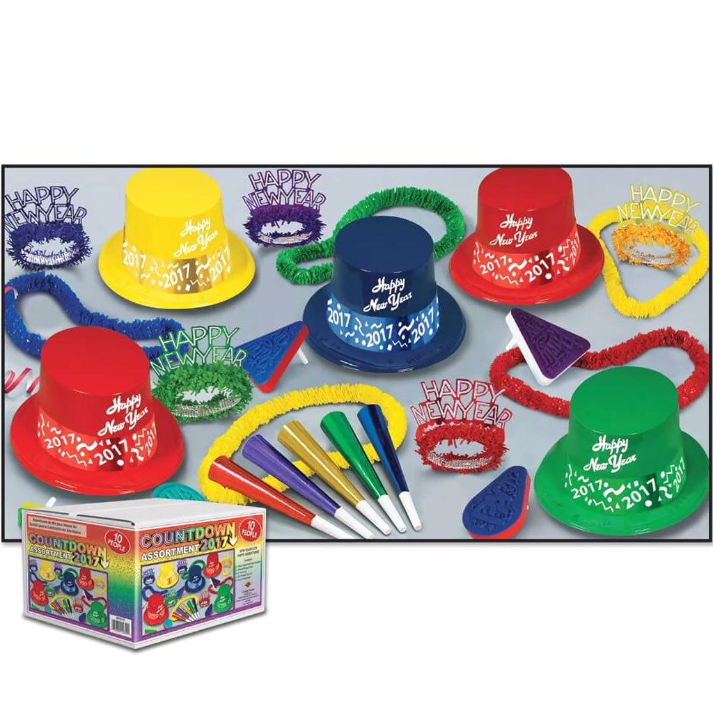 New Year Party Kit Countdown Asst For 10