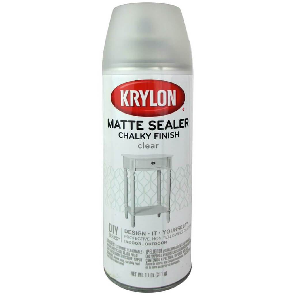 Chalky Finish Aerosol Spray Paint 12oz Clear Matte