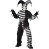 Evil Jester Child Black/ White Costume