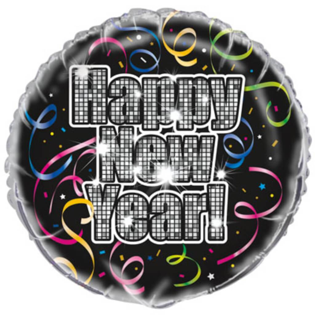 Countdown To New Year Foil Balloon 18in