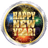 Fireworks New Year's Round Foil Balloon 18in