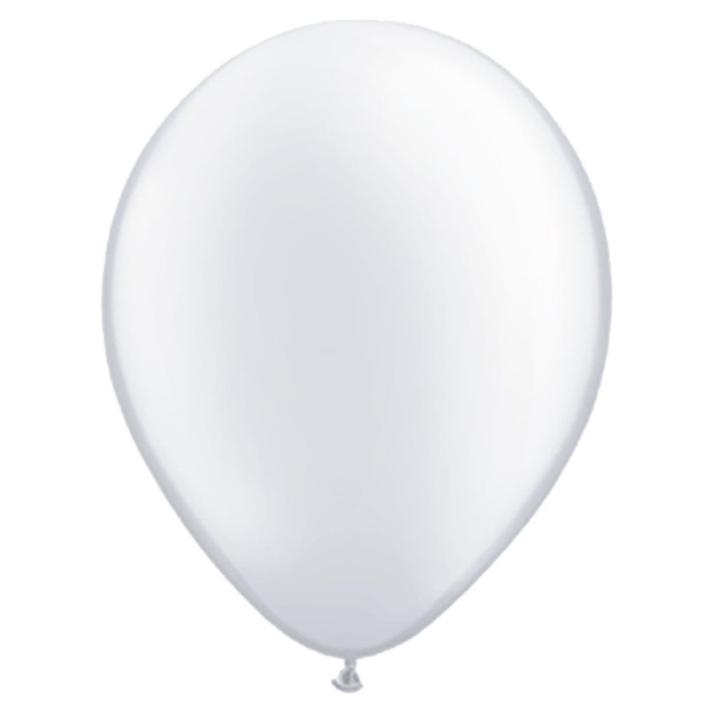 Latex Balloon White Pearlized 11in