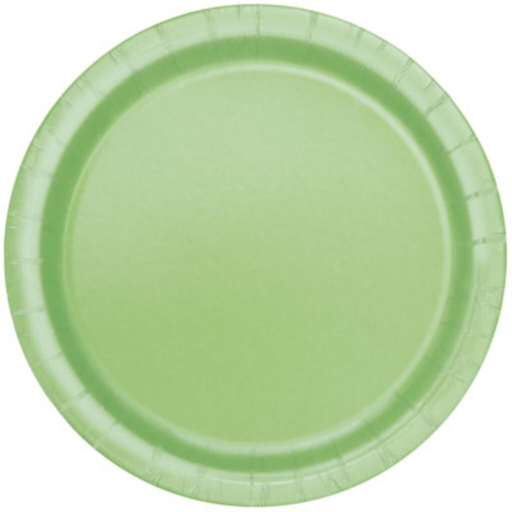 Apple Green Solid Round Dinner Plates 9in 16ct,