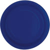 True Navy Blue Solid Round Dinner Plates 9in, 16ct