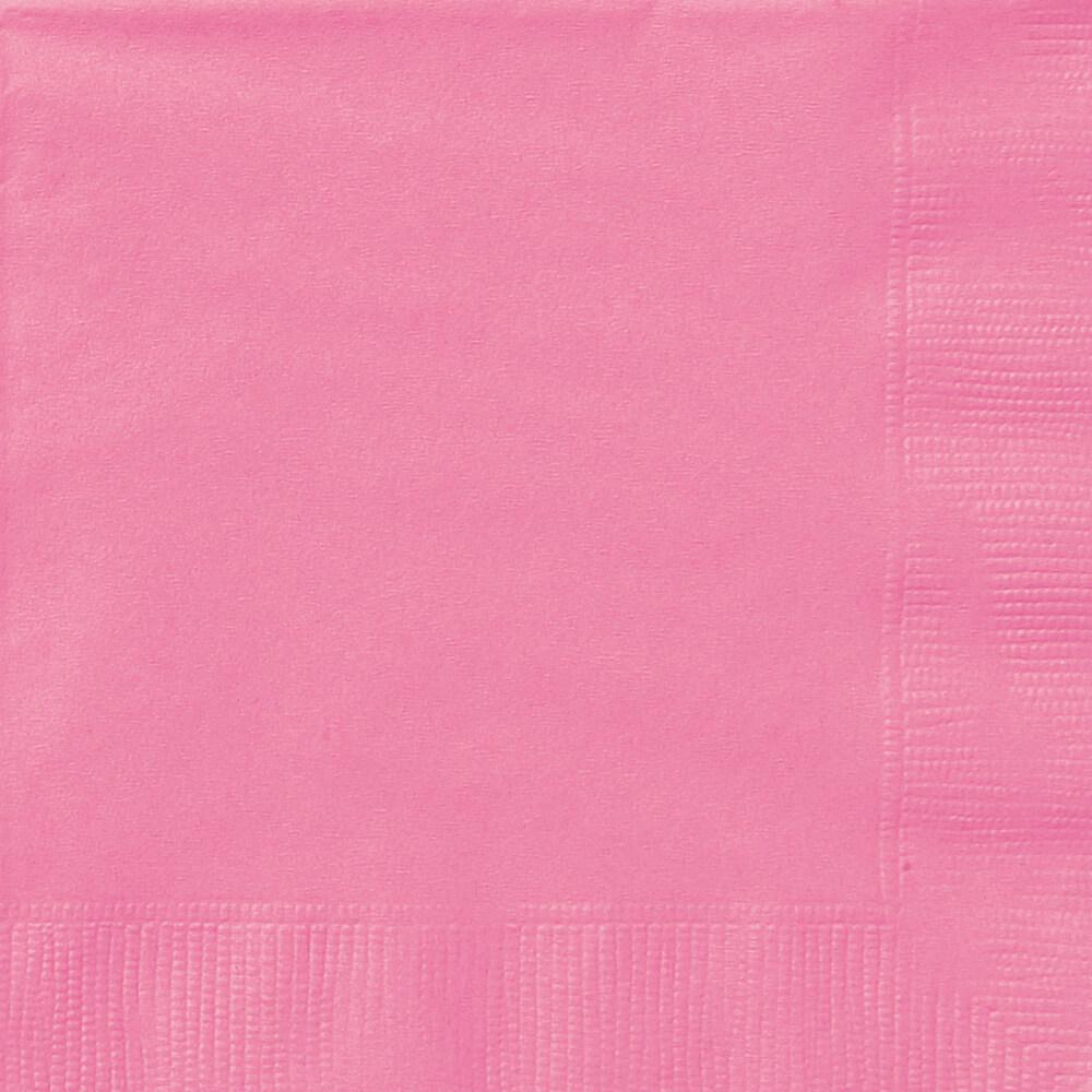 Hot Pink Solid Beverage Napkins, 20ct