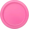Hot Pink Solid Round Dessert Plates 7in, 8ct