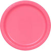 Hot Pink Solid Round Dinner Plates 9in, 8ct