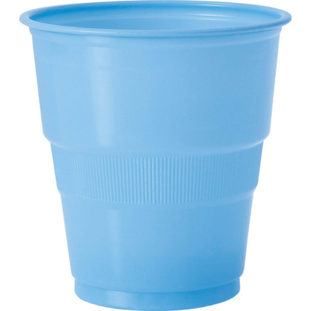Baby Blue Solid 9oz Plastic Cups, 12ct