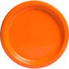 Pumpkin Orange Solid Round Dinner Plates 9in, 16ct