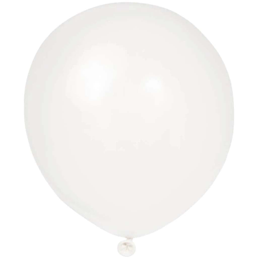 12in Latex Balloons, White