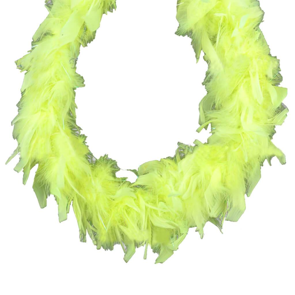 Chandelle Mini Boa with Iridescent Lurex 48in Fluorscent 25g Yellow