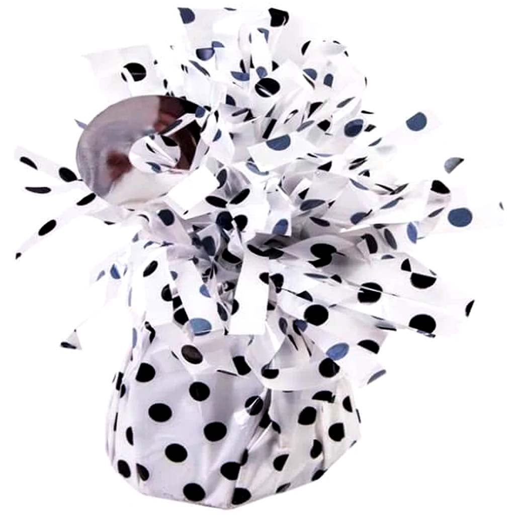 BALLOON WEIGHT POLKA DOT WHITE/BLACK SMALL