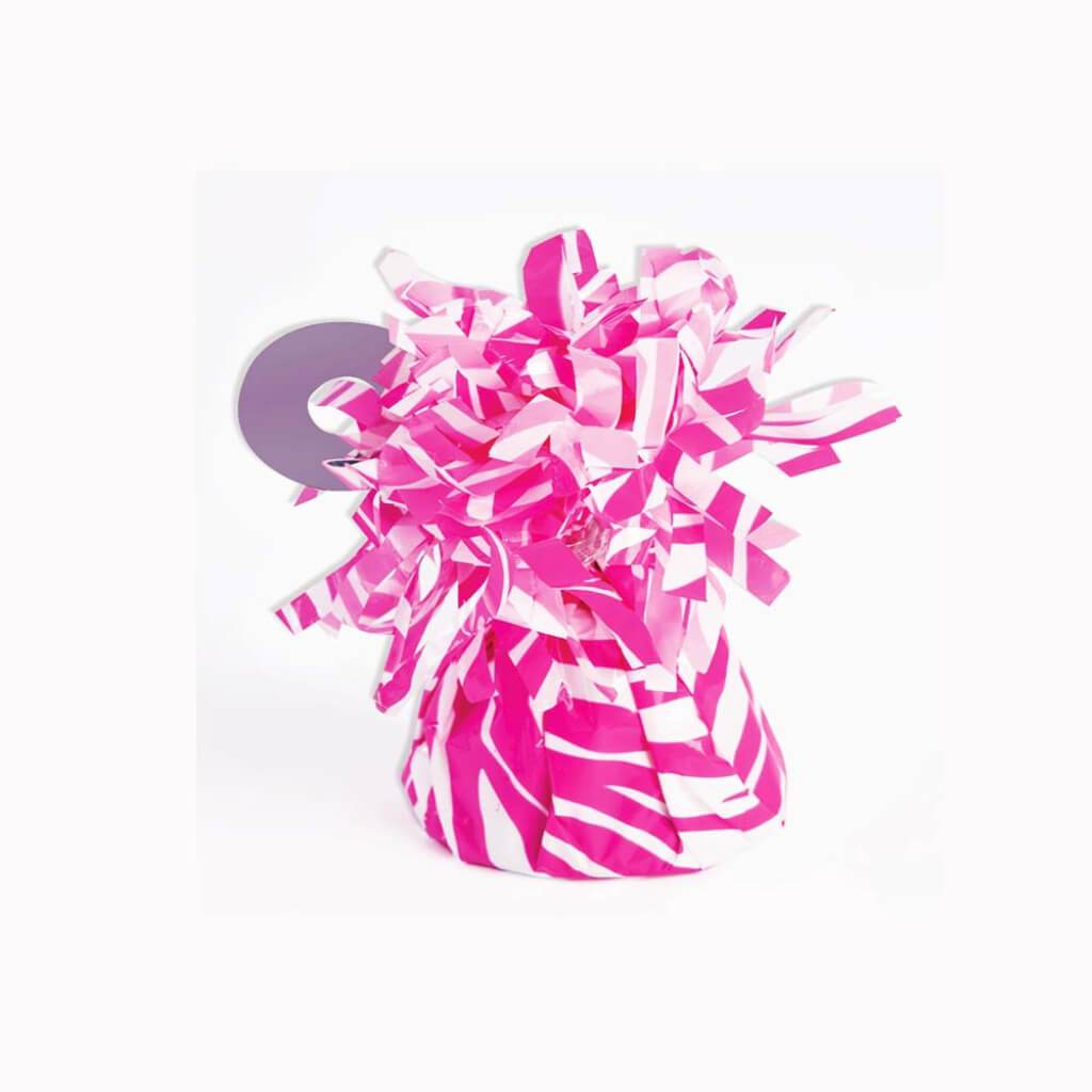 BALLOON WEIGHT PINK ZEBRA SMALL