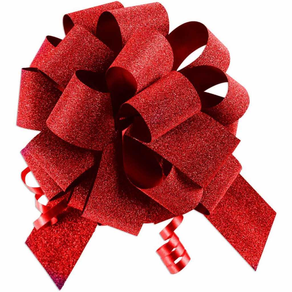 #9 DIAMOND DUST PULL BOW RED