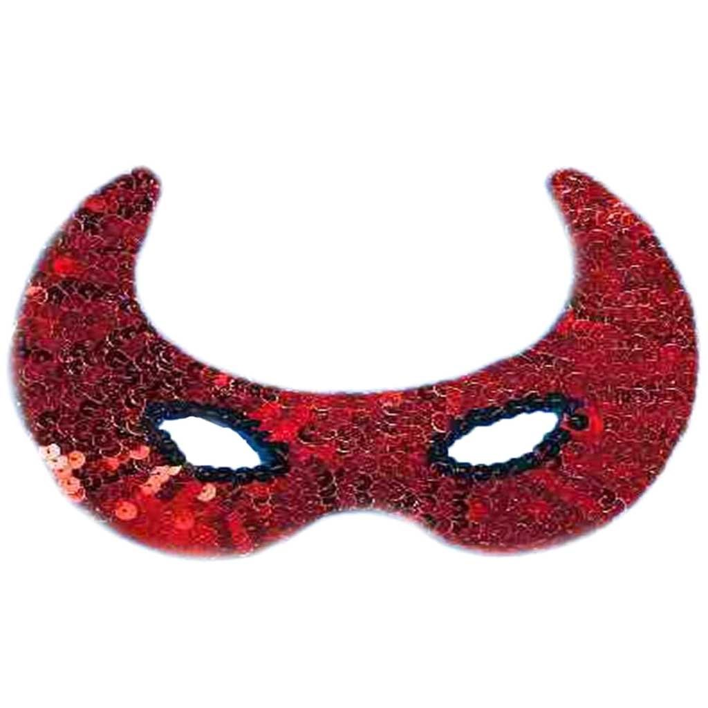 Sequin Devil Half Mask