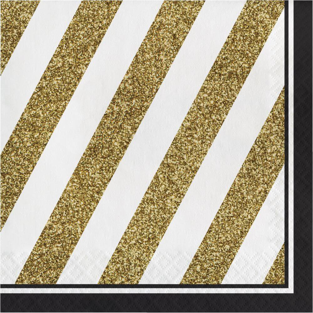 Black & Gold Luncheon Napkin 3Ply