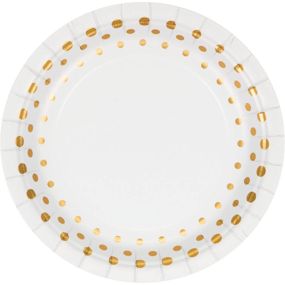 Paper Luncheon Plates 7in, 8ct