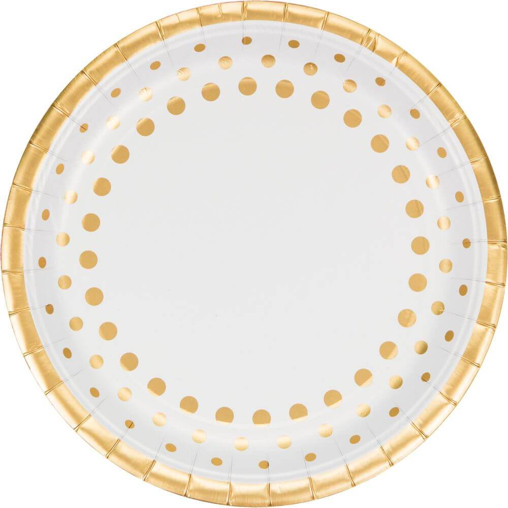 Paper Banquet Plates 10in, 8ct