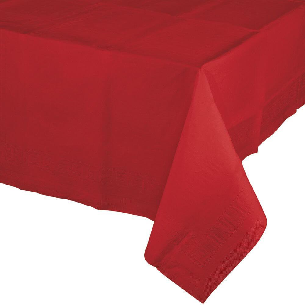 Classic Red Paper Table Cover 54in x 108in