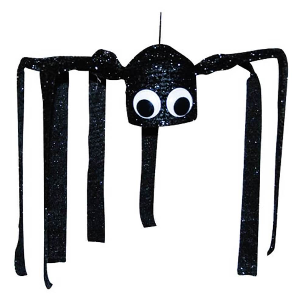 Sparkly Black Shaking Spider