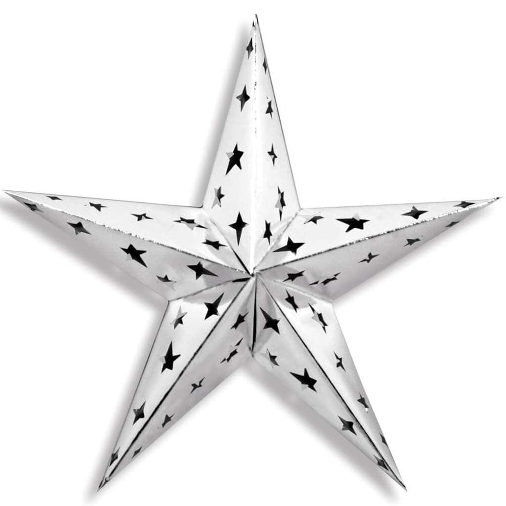 Dimensional Foil Star 12in Silver