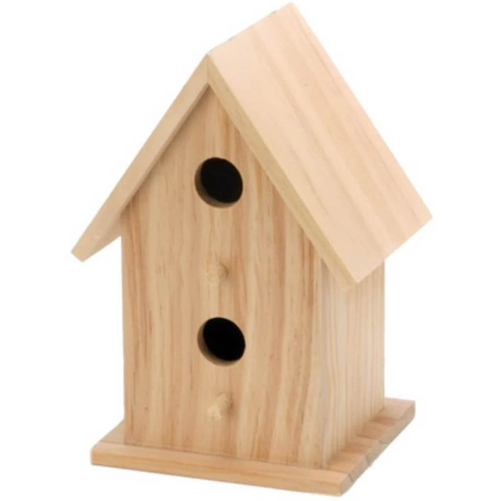 Wood Bird House 2 Openings