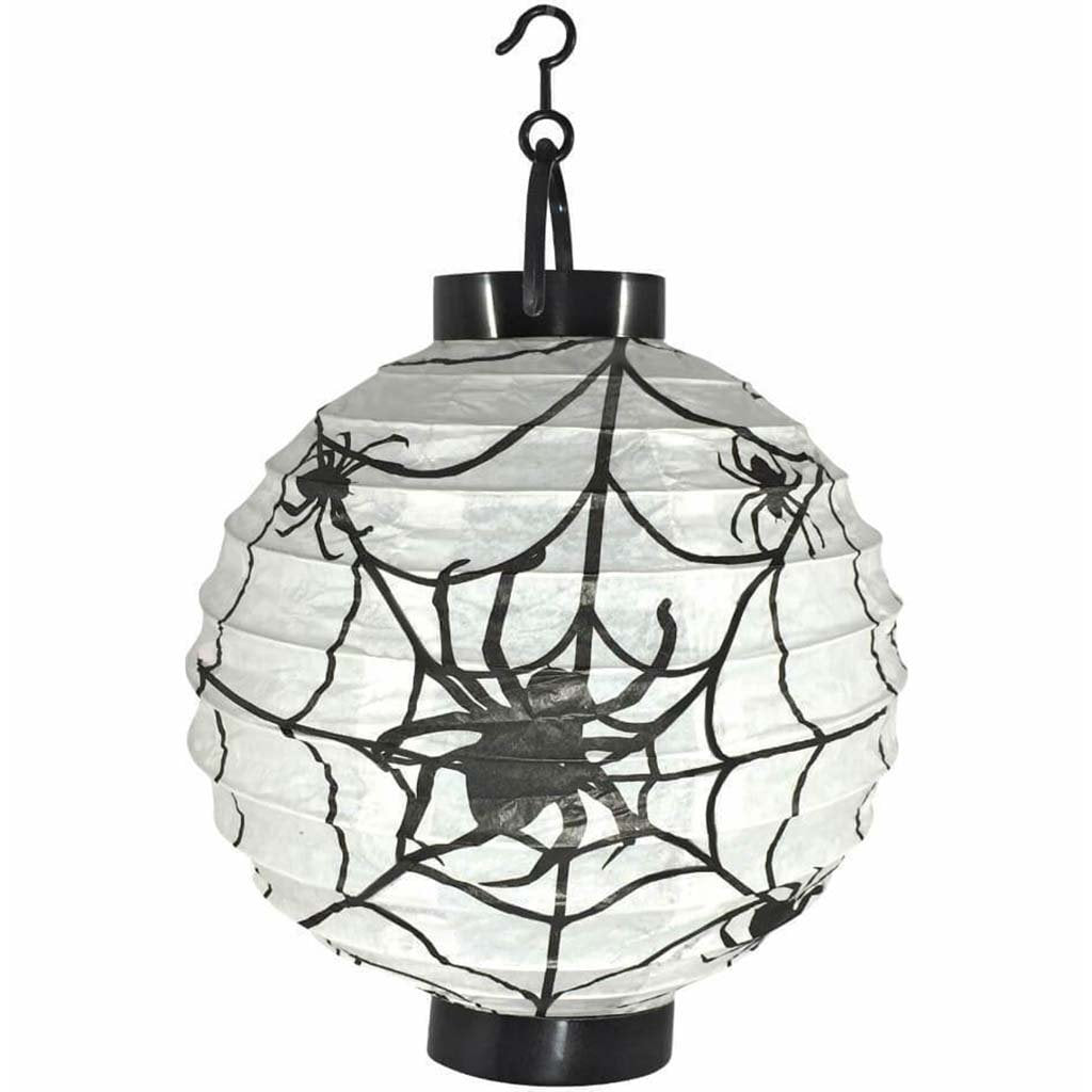 Paper Lantern Light Spider Web