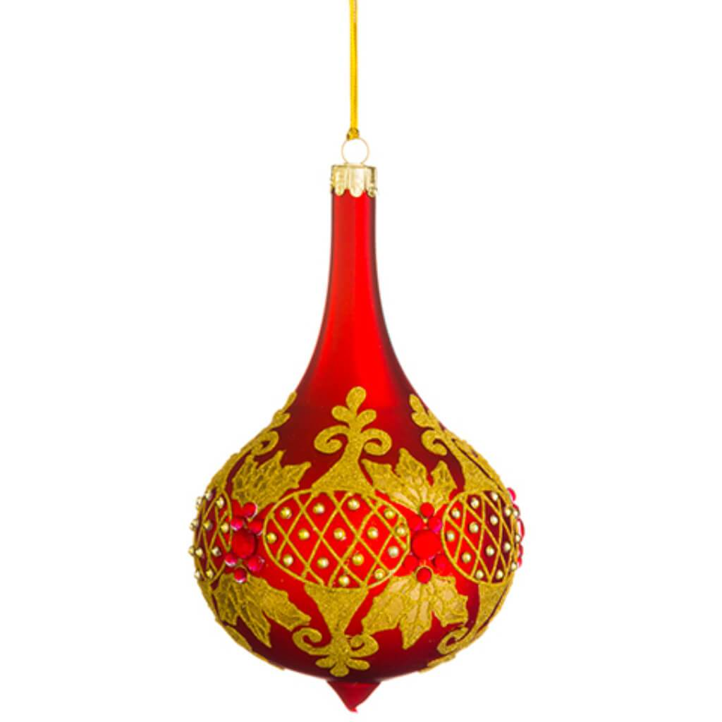 Beaded Glass Finial Ornament