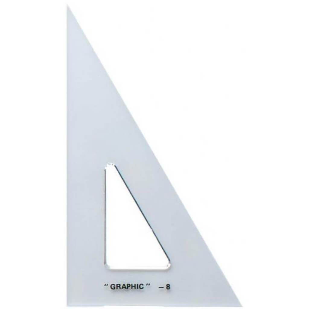 Academic Transparent Triangle 30°/60° 10in