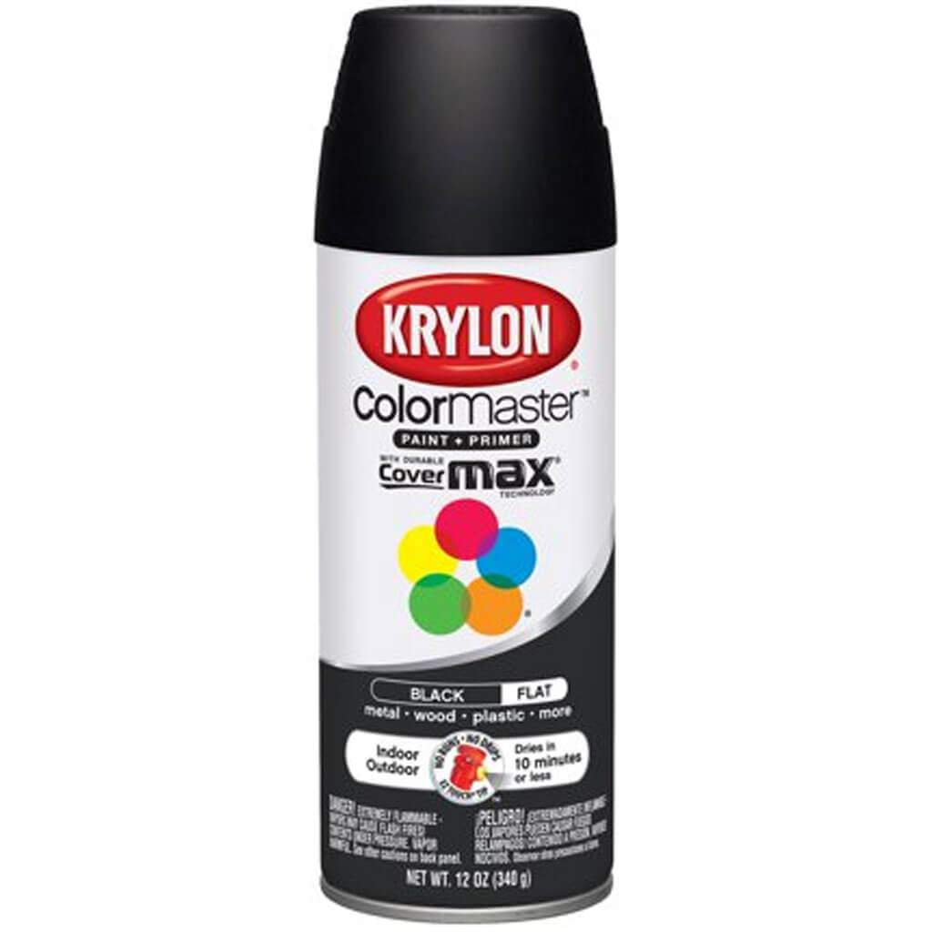 Krylon Colormaster Indoor/Outdoor Aerosol Paint 12oz Flat