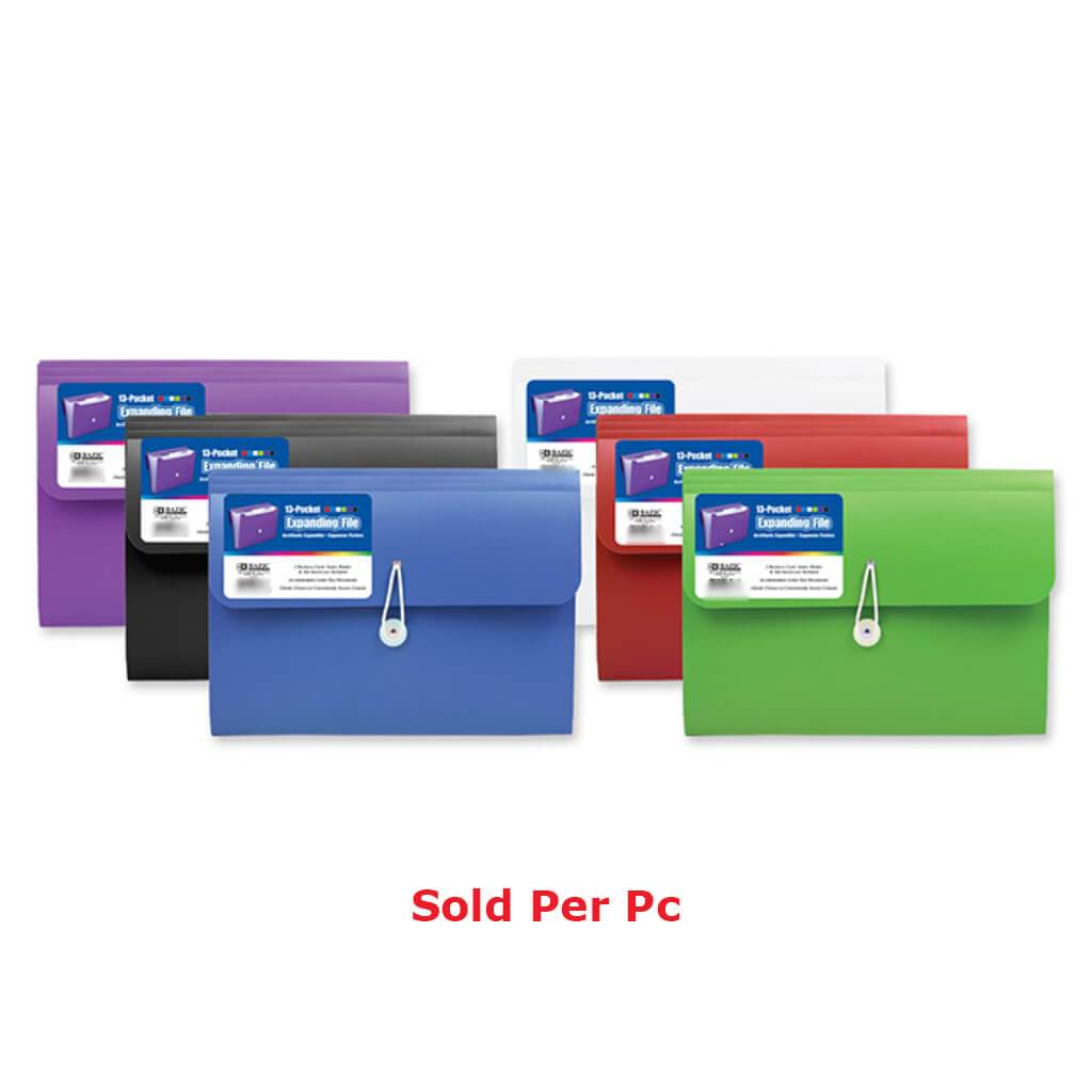 13 Pocket Letters Size Poly Expanding File
