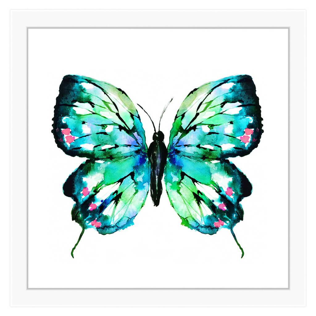 Blue Butterfly On Canvas