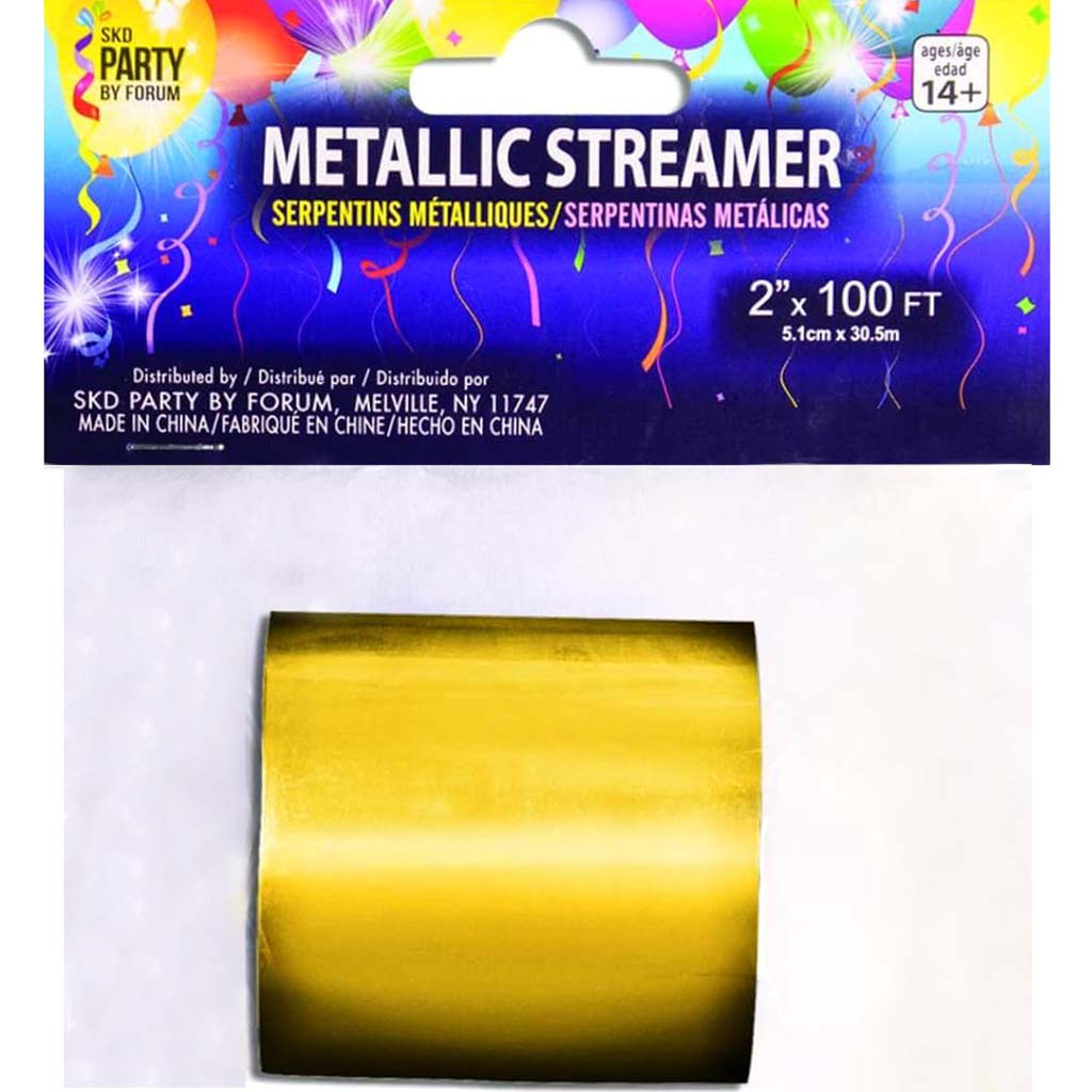 2 X 100Ft Streamers Gold