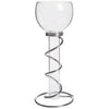 Victoria Lynn™ Single Floating Glass Taper Holder Silver Stand