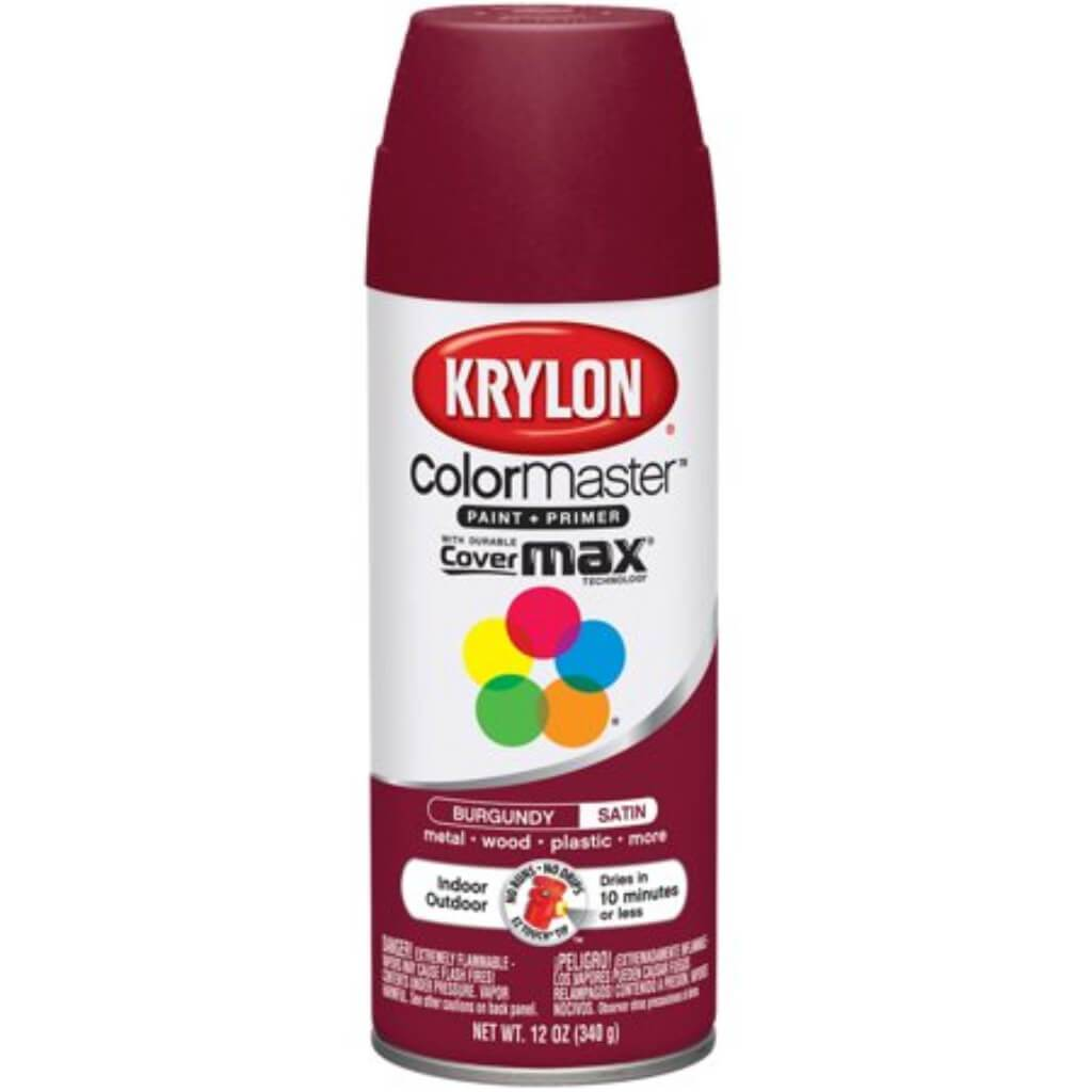 Colormaster Indoor/Outdoor Aerosol Paint 12oz Burgandy Satin