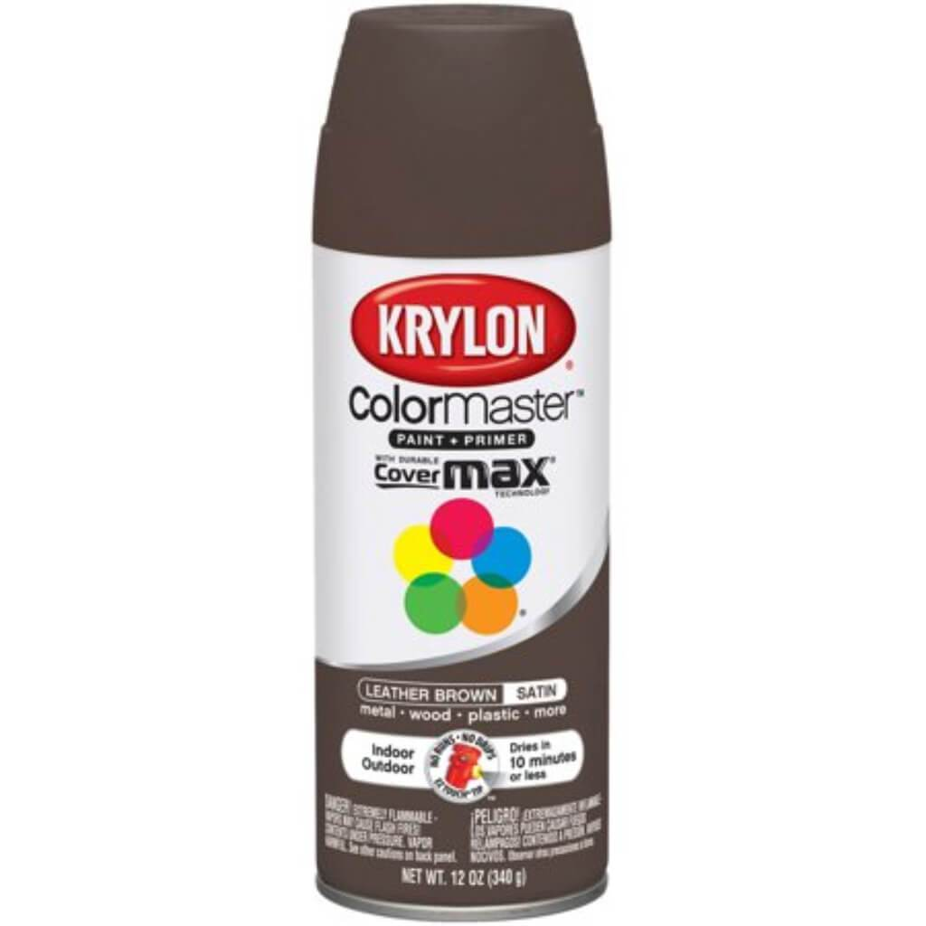 Colormaster Indoor/Outdoor Aerosol Paint 12oz Leather Brown Satin