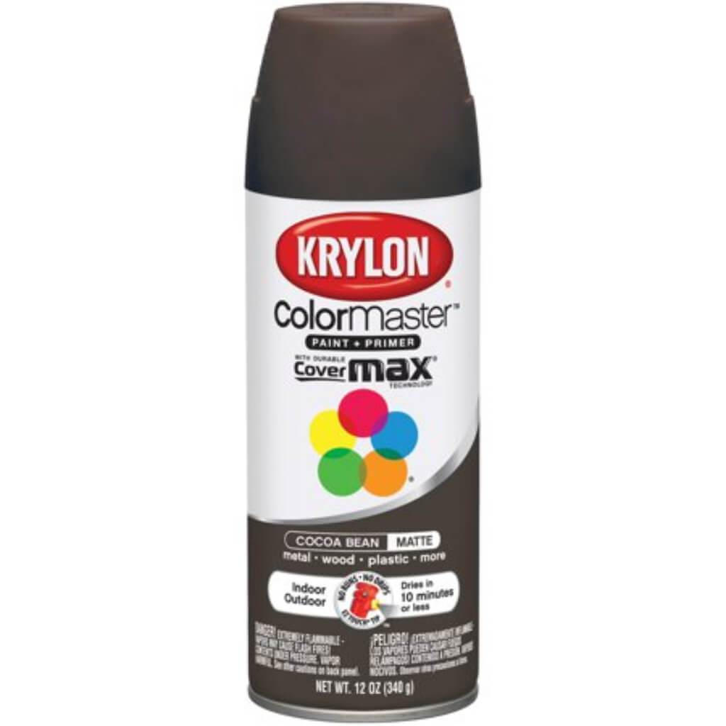 Colormaster Indoor/Outdoor Aerosol Paint 12oz Cocoa Bean Matte
