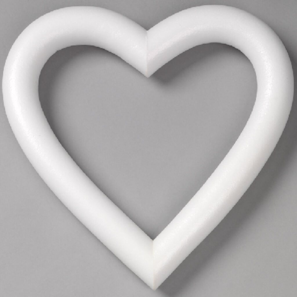 Heart 9in Extruded White