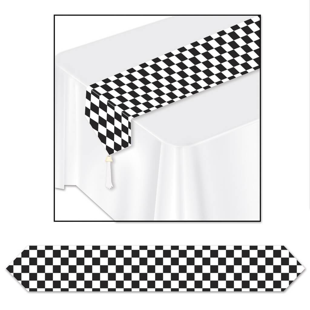 Printed Checkered Table Runner