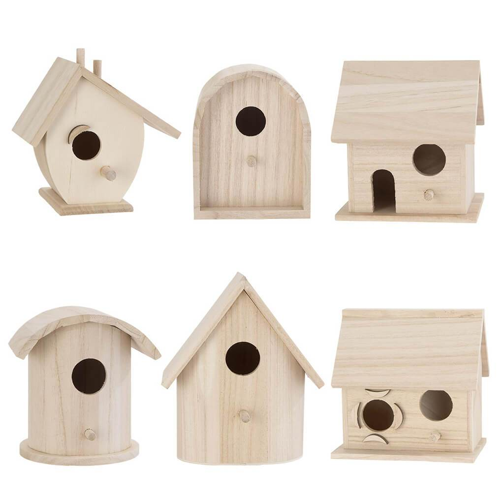 Woodbirdhouse Wren Rounded No Roof