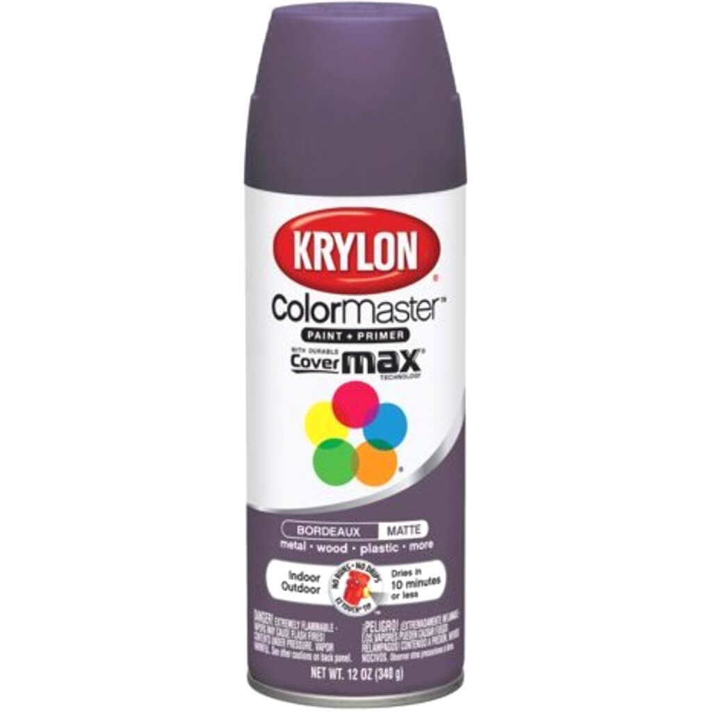 Colormaster Indoor/Outdoor Aerosol Paint 12oz Bordeaux Matte