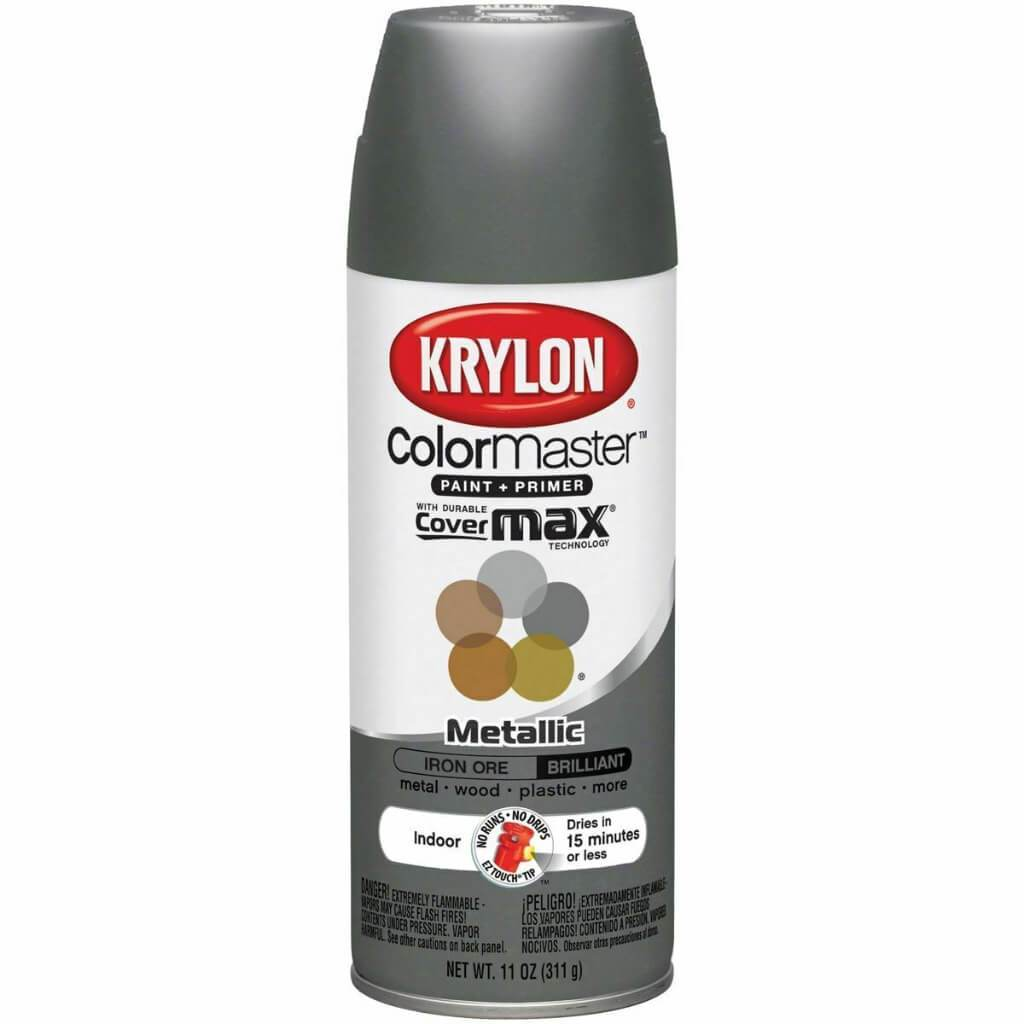 Colormaster Indoor/Outdoor Aerosol Paint 12oz Iron Ore Matte