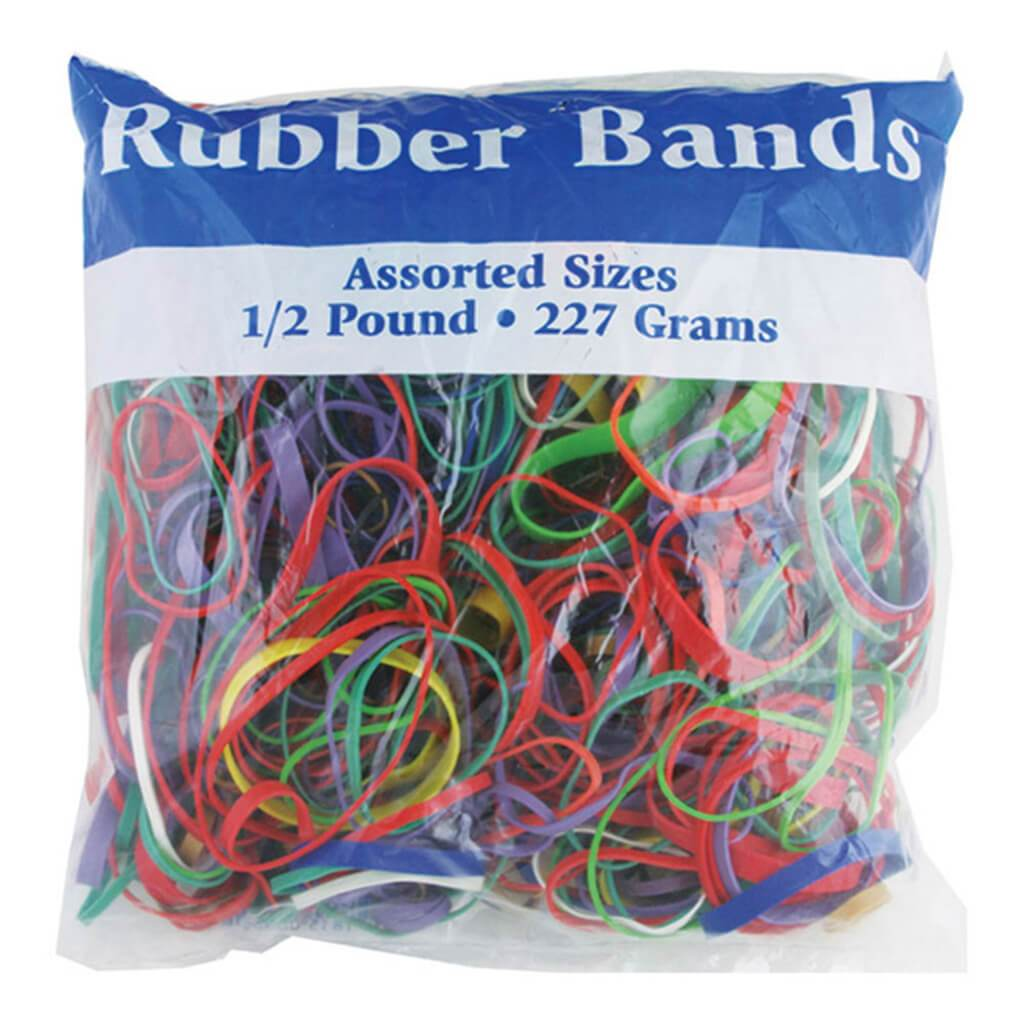 Rubber Bands Assorted Dimensions 227g