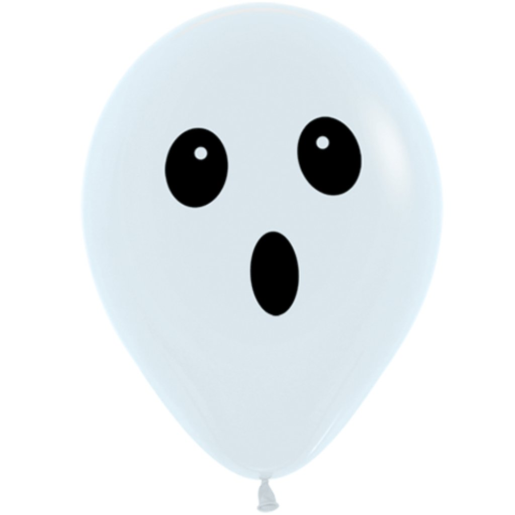 Latex Balloon Ghost Face 11in