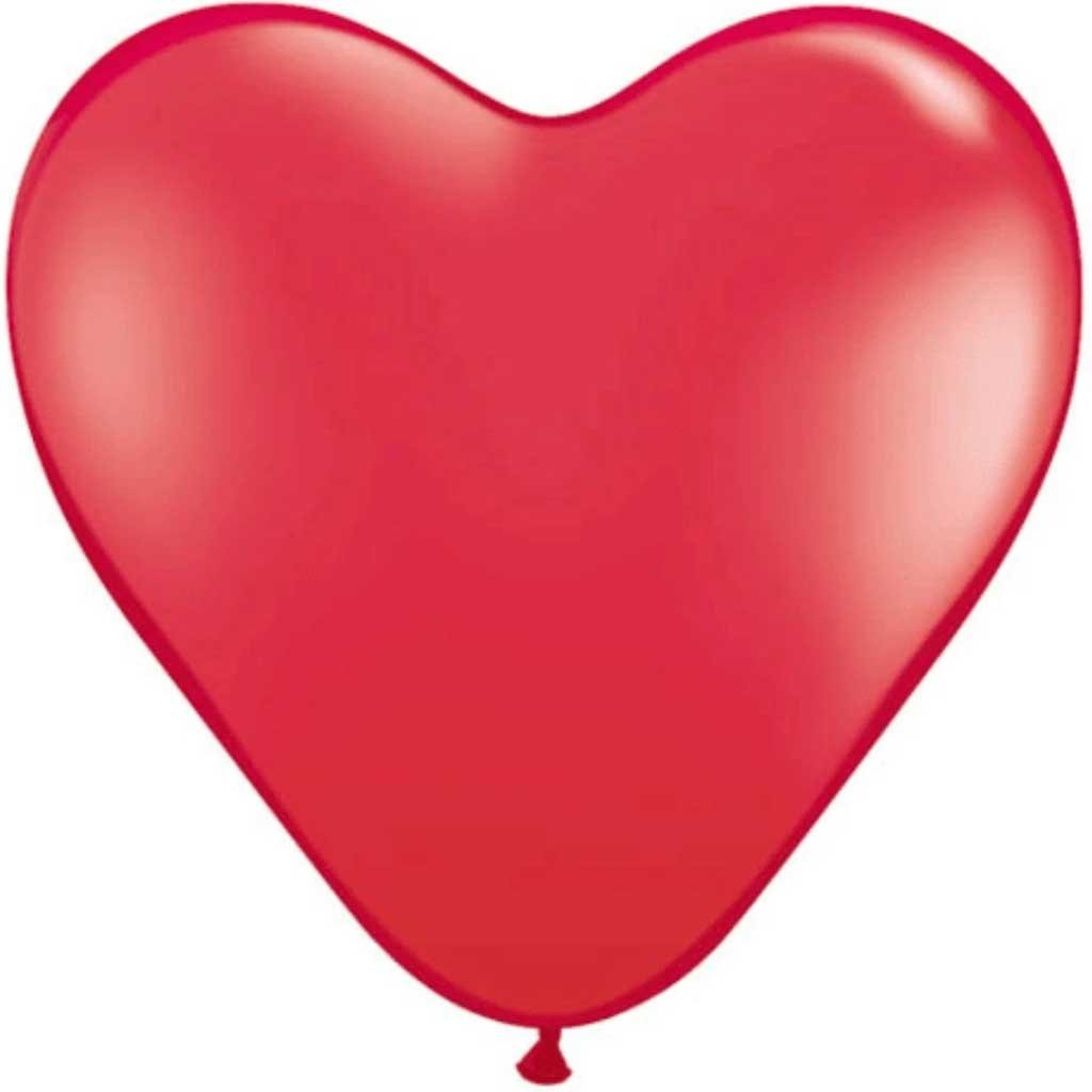 Red Heart Balloon 15in