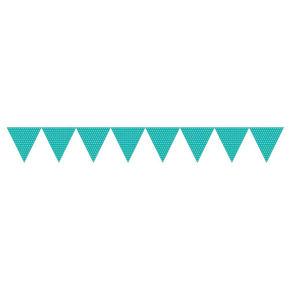 Teal Lagoon Jointed Banner With Dots
